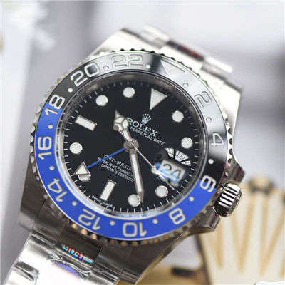 【N厂顶级复刻手表】N 厂V9版本904L精钢蓝黑圈劳力士格林尼治二代GMT116710BLNR-78200腕表