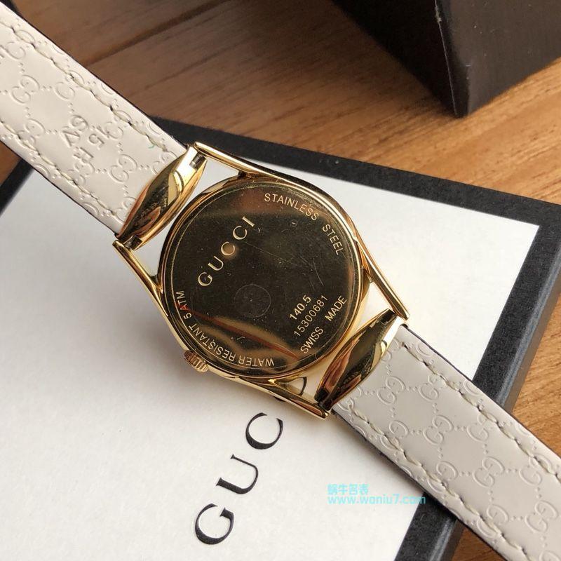 高端原单女装硬货!下手要快!Gucci新款真钻石英女表,表盘镶嵌52颗Vs1.1真钻、珍珠贝母面 / GUCCI KK11