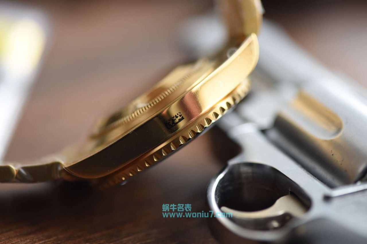 【VR顶级复刻手表土豪全18K包金黑水鬼~】劳力士潜航者型系列116618LN-97208 黑盘腕表 / R258