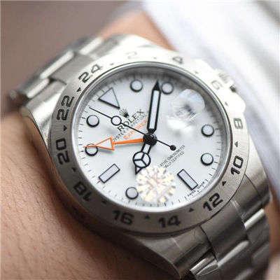 【JF厂顶级复刻手表】劳力士探险家型探险家型II系列 216570-77210 白盘腕表
