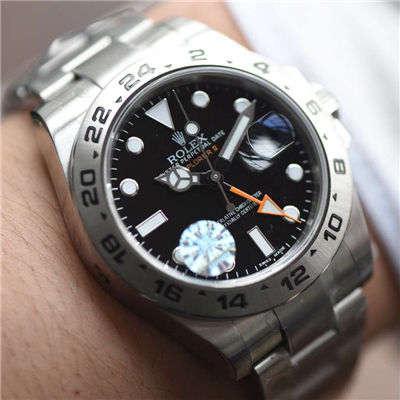 【JF厂顶级复刻手表】劳力士探险家型探险家型II系列 216570-77210 黑盘腕表