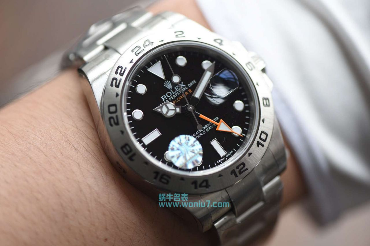 【JF厂顶级复刻手表】劳力士探险家型探险家型II系列 216570-77210 黑盘腕表 / R260