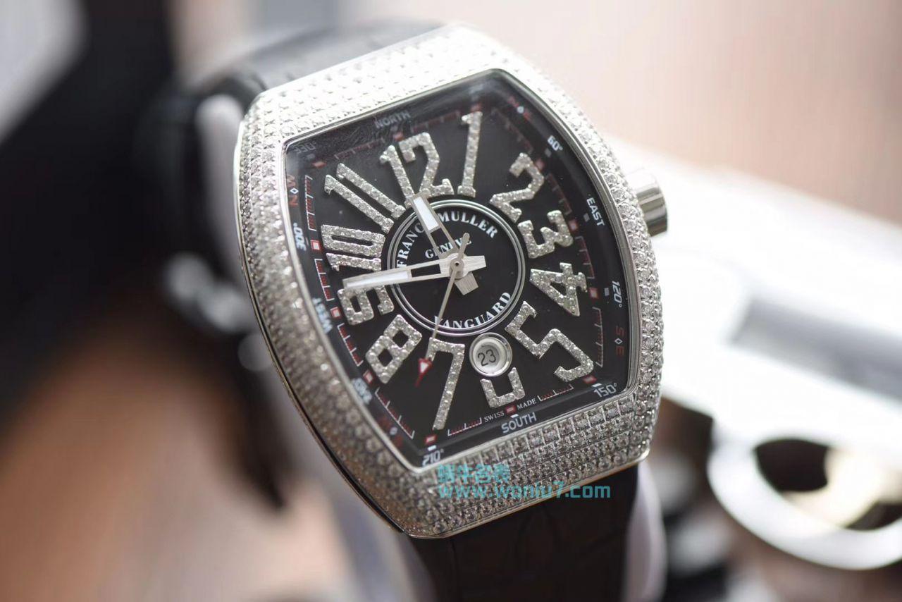【最高版本~F M 霸气V45】法兰克穆勒VANGUARD系列V45镶钻腕表 / FL031