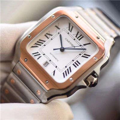 【KOR一比一超A高仿手表】卡地亚山度士系列W20099C4腕表