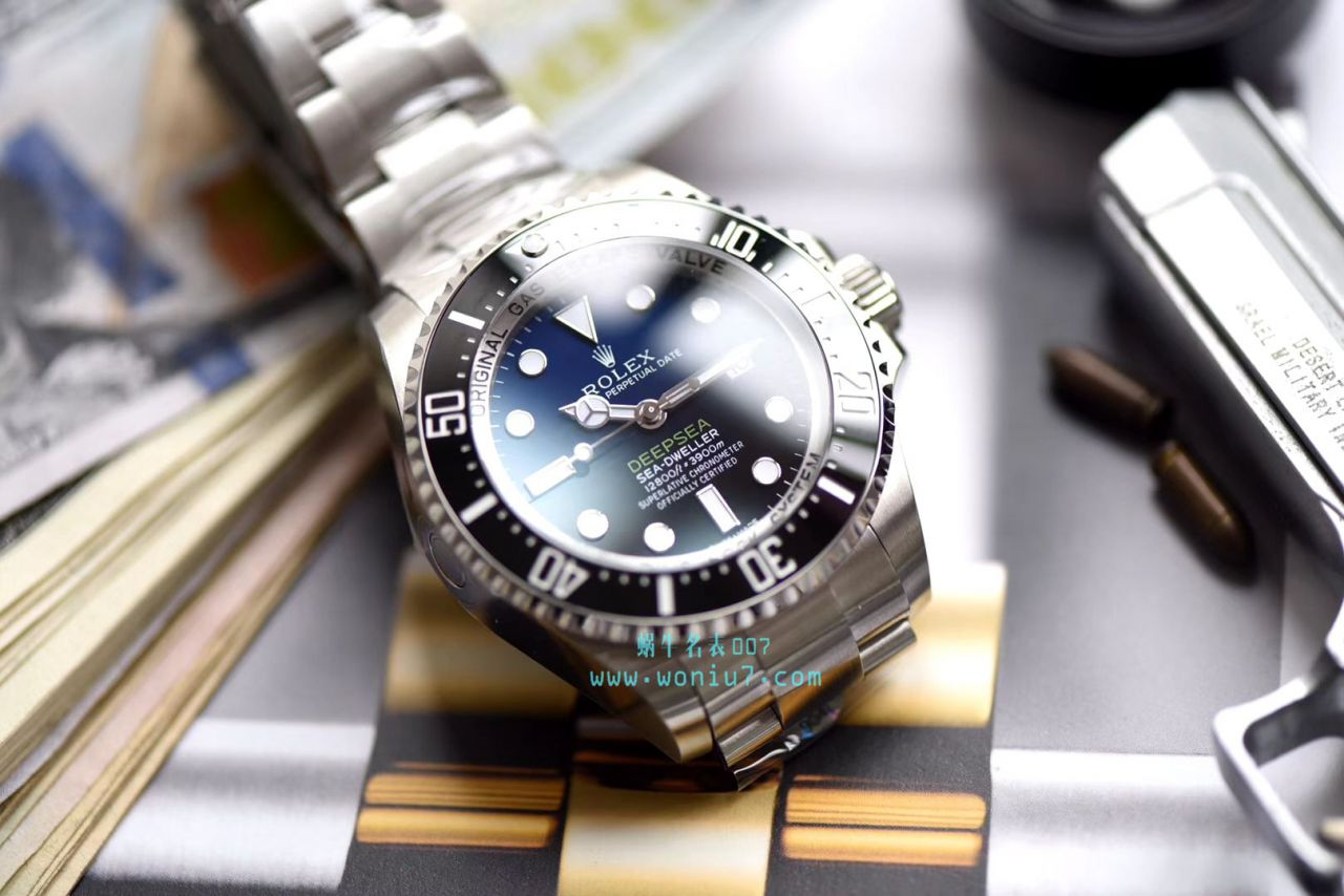 【AR一比一超A高仿手表】劳力士海使型系列116660-98210 蓝盘腕表(904钢渐变蓝鬼王)
