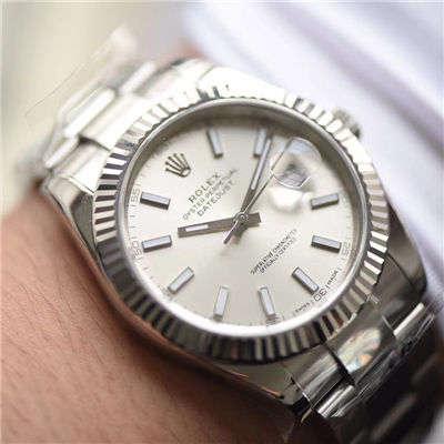 【AR一比一超A高仿手表】劳力士日志型DATEJUST系列116334银盘腕表