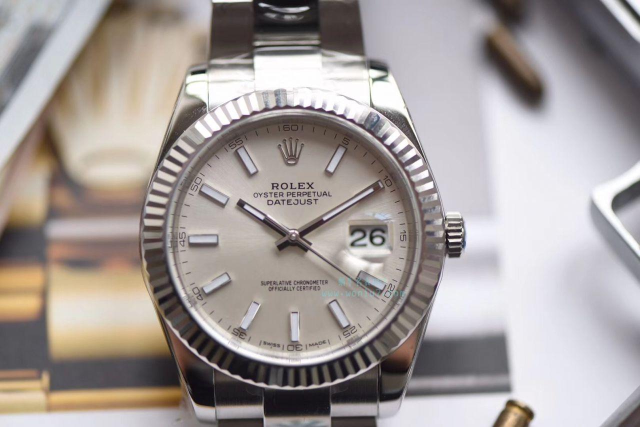 【AR厂顶级复刻手表】劳力士日志型DATEJUST系列116334银盘腕表 / R267