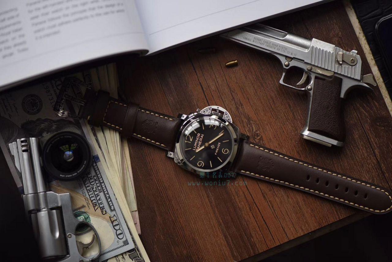 【V9一比一顶级复刻手表】沛纳海LUMINOR系列 PAM00972雕花腕表 / PAM972