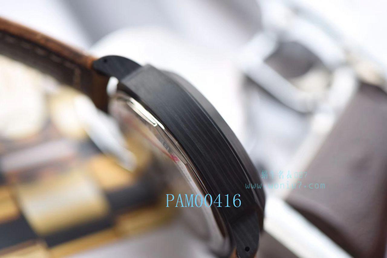 【XF厂顶级复刻手表】沛纳海特别版腕表系列PAM 0360、PAM 00416碳纤维腕表 / PAM00416