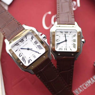 卡地亚山度士系列W20072X7腕表、W20107X7男女情侣腕表【V6一比一超A高仿手表】价格报价