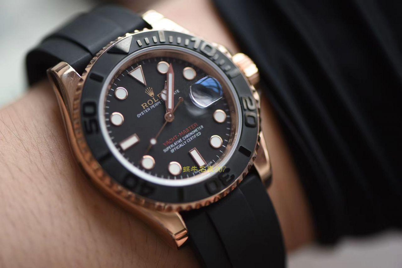【独家视频测评NOOB厂1:1高仿手表】劳力士游艇名仕型系列116655-Oysterflex bracelet金壳腕表  / RBC018