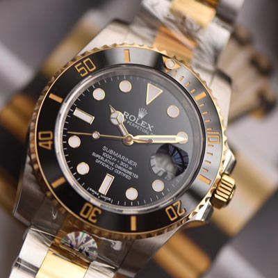 劳力士潜航者型系列116613-LN-97203黑盘腕表【AR厂一比一复刻间金黑水鬼手表】