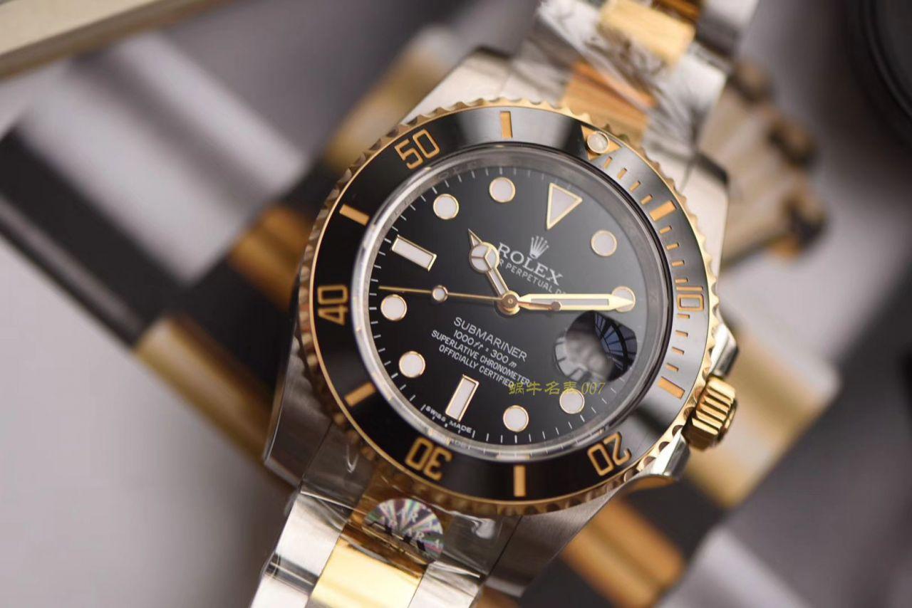 劳力士潜航者型系列116613-LN-97203黑盘腕表【AR一比一复刻间金黑水鬼手表】 / R273