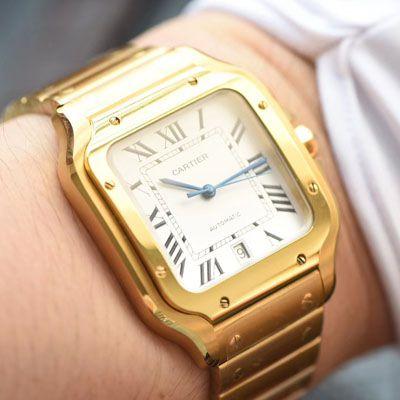 卡地亚山度士系列WGSA0009(大号)腕表【KOR一比一复刻手表】价格报价