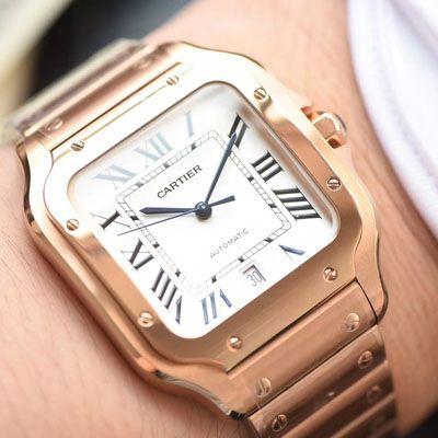 卡地亚山度士系列WGSA0007(大号)腕表【KOR一比一精仿手表】价格报价