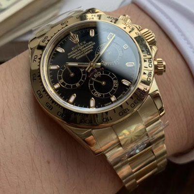 劳力士宇宙计型迪通拿系列116508黑盘腕表【AR精仿劳力士手表】
