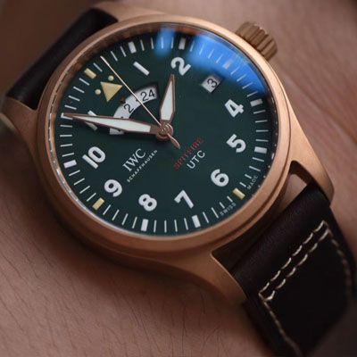 【XF超A高仿手表】IWC万国表飞行员系列IW327101腕表,青铜喷火战机飞行员价格报价