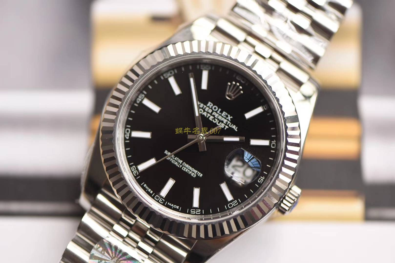 【AR一比一超A精仿手表】劳力士日志型系列116334-黑盘腕表 / R257