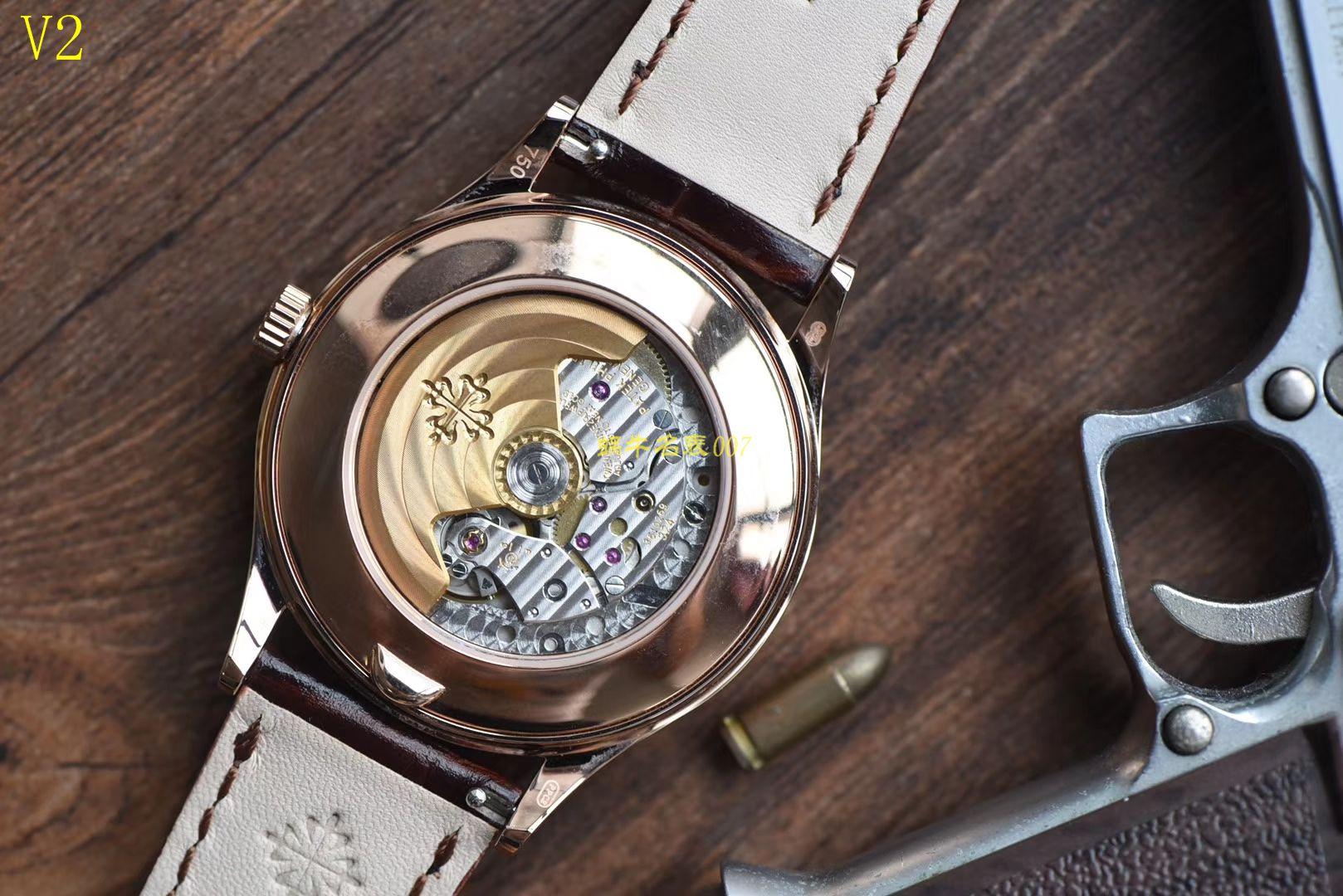 【台湾厂一比一超A高仿手表】百达翡丽复杂功能计时系列5396R-012月相腕表