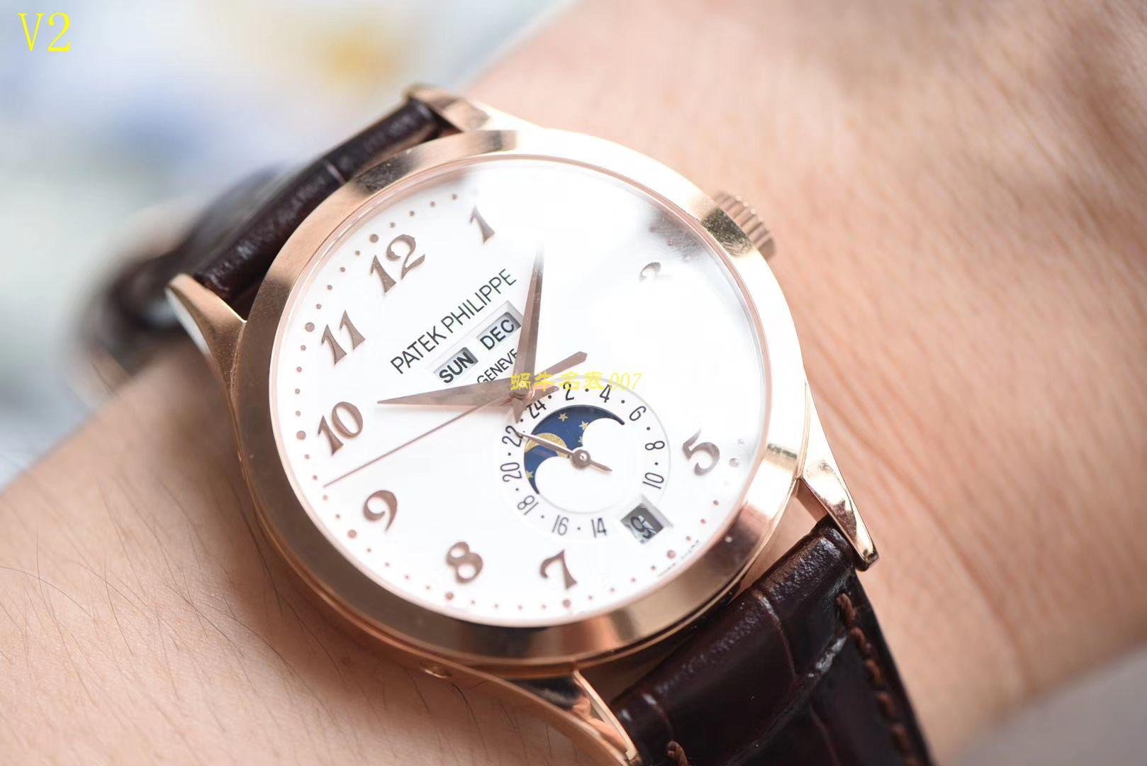 【台湾厂一比一超A高仿手表】百达翡丽复杂功能计时系列5396R-012月相腕表 / BD208