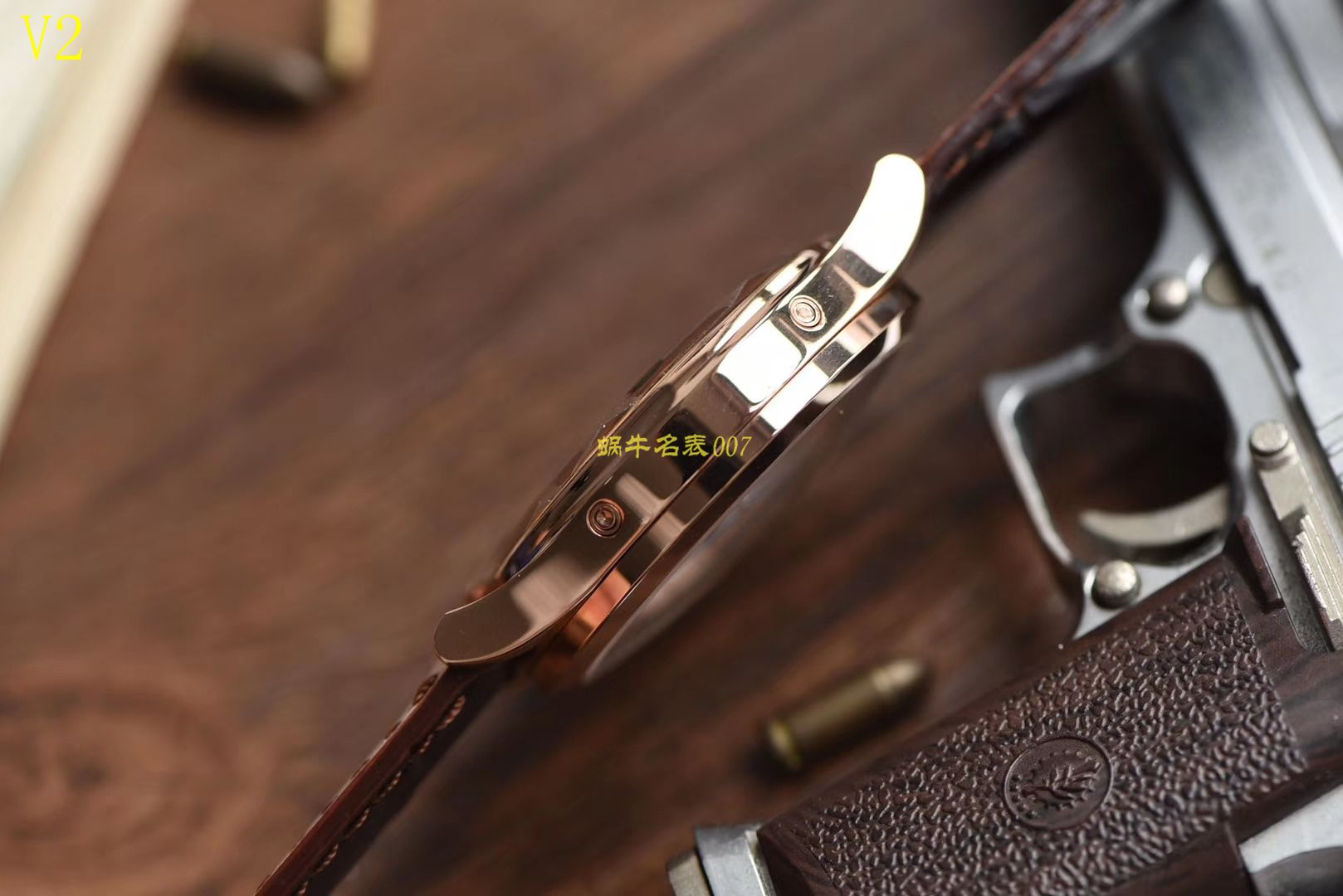 【台湾厂一比一超A高仿手表】百达翡丽复杂功能计时系列5396G 玫瑰金男表