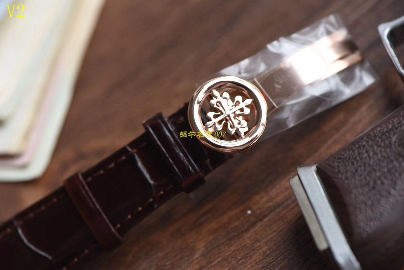 【台湾厂一比一超A高仿手表】百达翡丽复杂功能计时系列5396G 玫瑰金男表 / BD205