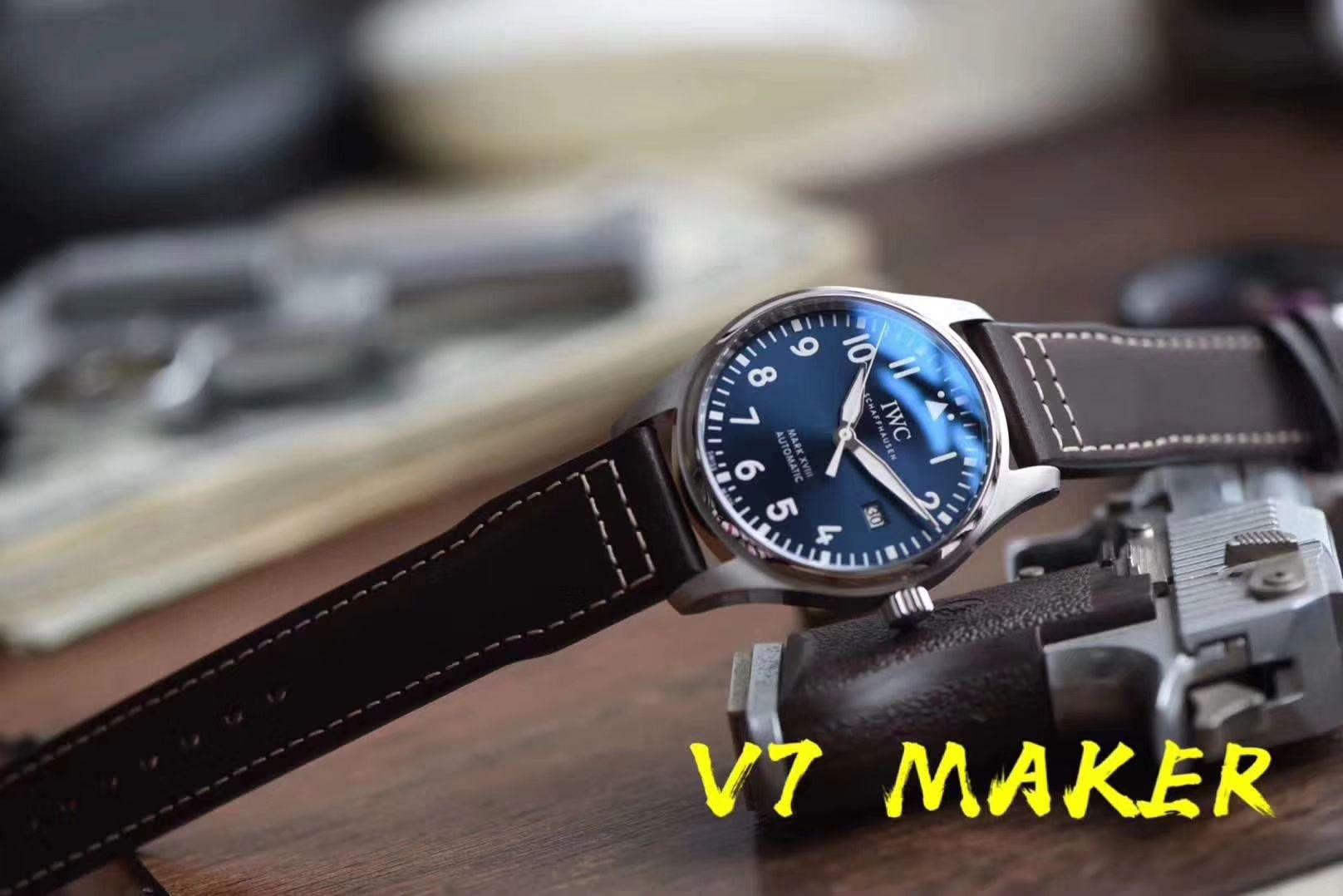 IWC万国表飞行员马克十八系列IW327004腕表(小王子)【V7一比一高仿手表】V7厂重磅力推,良心升级