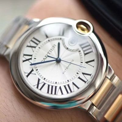 卡地亚蓝气球系列W2BB0022腕表【V9厂一比一高仿手表】V9厂18K包金蓝气球间金款价格报价