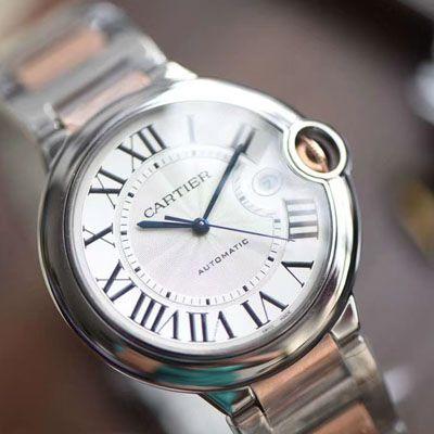 卡地亚蓝气球系列W2BB0004腕表【V9厂一比一复刻手表】V9厂18K包金蓝气球间金款男款42毫米价格报价