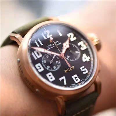 视频评测真力时飞行员系列29.2430.4069/21.C800腕表【XF新品1:1复刻手表:好莱坞大片青铜骑士杀到】