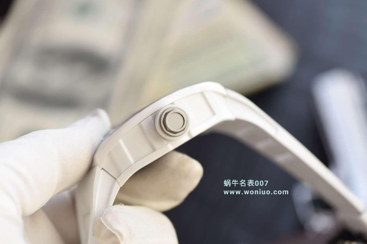 视频评测KV台湾厂一比一高仿最新巨作!RICHARD MILLE理查德米勒RM055白陶瓷白色橡胶带新款 / RM 055MM
