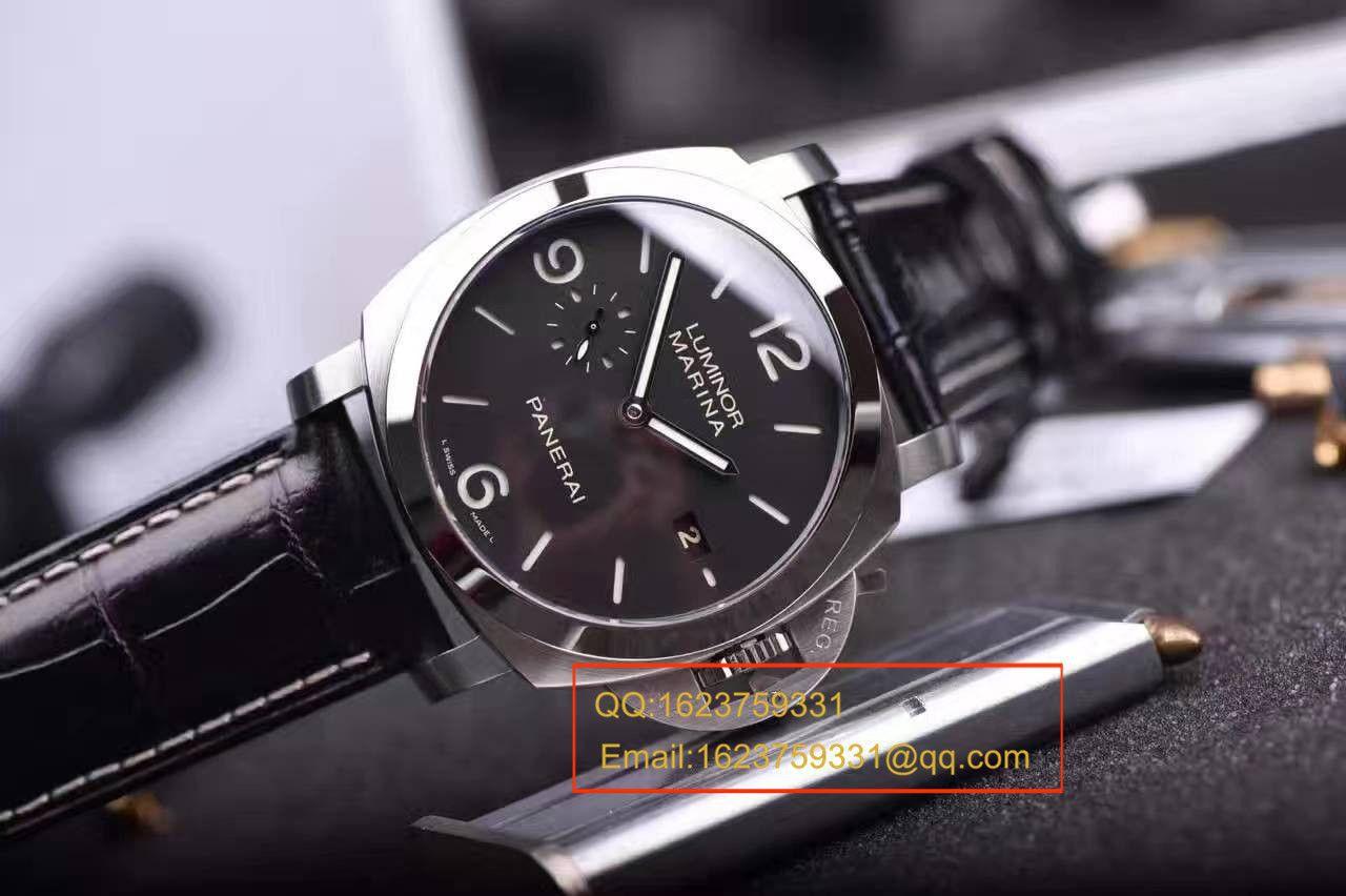 视频评测Panerai沛纳海LUMINOR 1950系列PAM 00312腕表【VS一比一复刻手表】