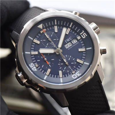 视频评测IWC万国表海洋时计系列IW376805腕表一比一精仿手表【万国海洋计时系列 雅克-伊夫 库斯托探险之旅特别版】