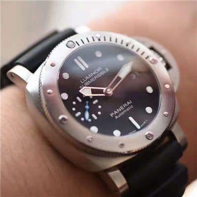 视频评测沛纳海SUBMERSIBLE 潜行系列PAM00682腕表一比一高仿【XF厂新升级版:佩纳海男女都可以佩戴】