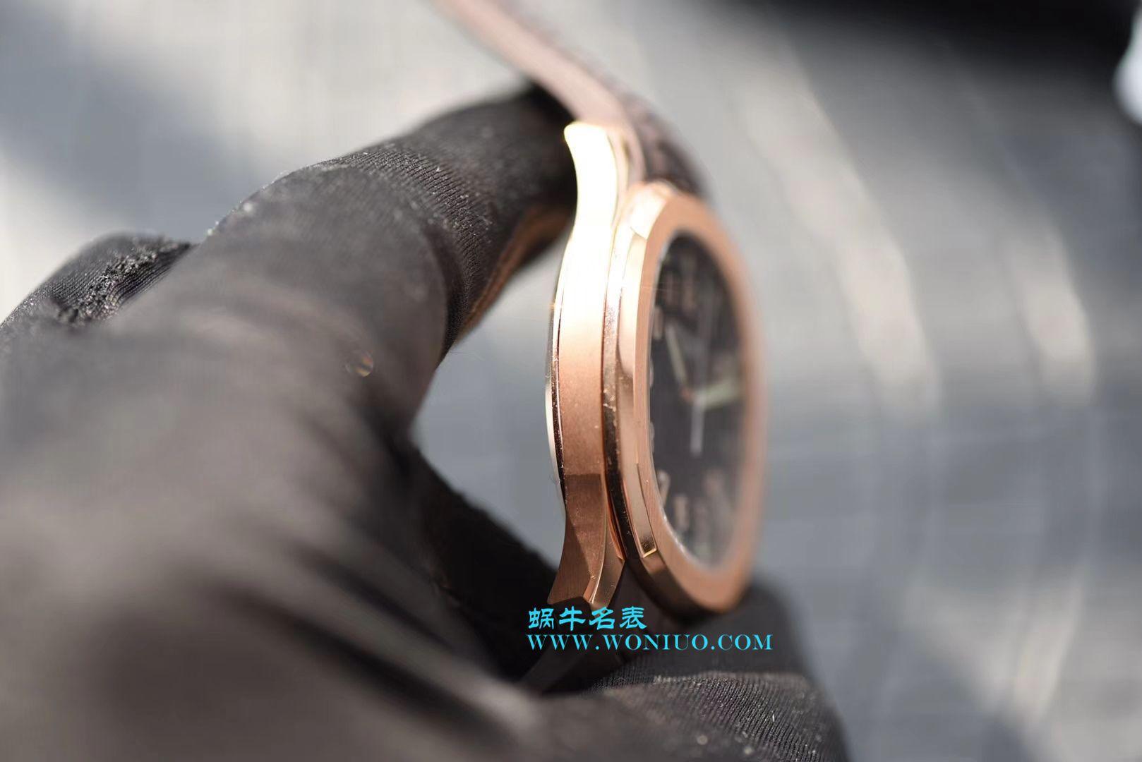 """视频评测百达翡丽AQUANAUT系列5167R-001腕表一比一复刻手表【复刻届最薄的5167手雷款 PF震撼出品 百达翡丽""""手雷""""】"""