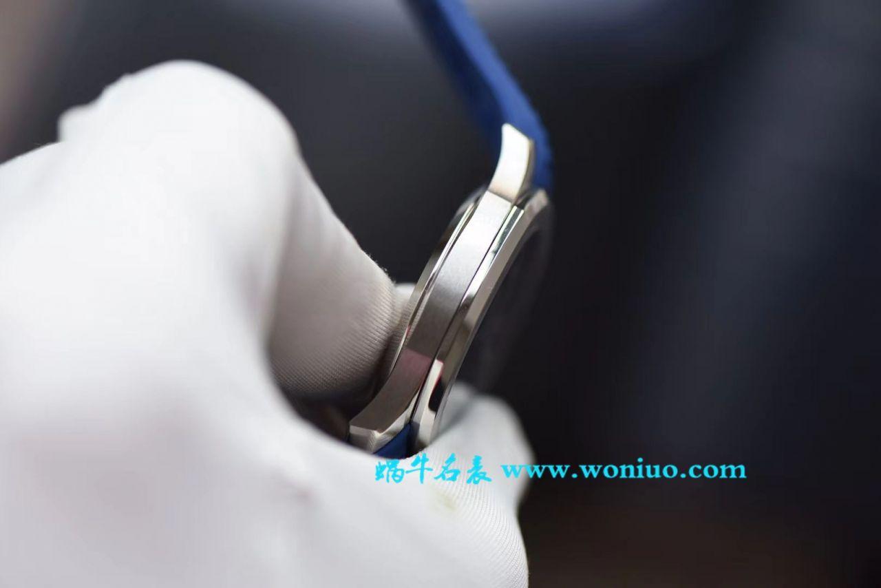 【视频评测PF一比一超A高仿手表】百达翡丽AQUANAUT系列5168G-001腕表 / BD158MB