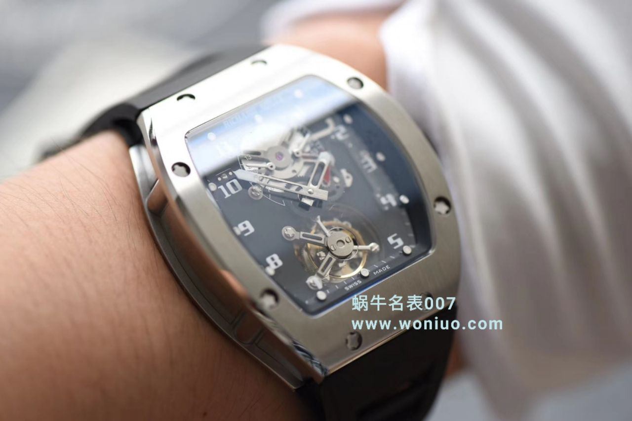 视频评测里查德米尔男士系列RM 001腕表JB厂高仿理查德·米勒RM001真陀飞轮