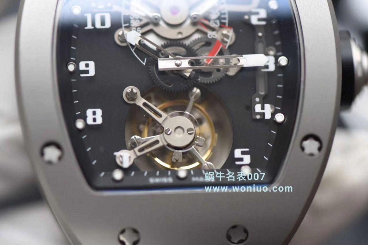 RICHARD MILLE(理查德米勒)视频评测里查德米尔男士系列RM 001腕表JB厂高仿理查德·米勒RM001真陀飞轮