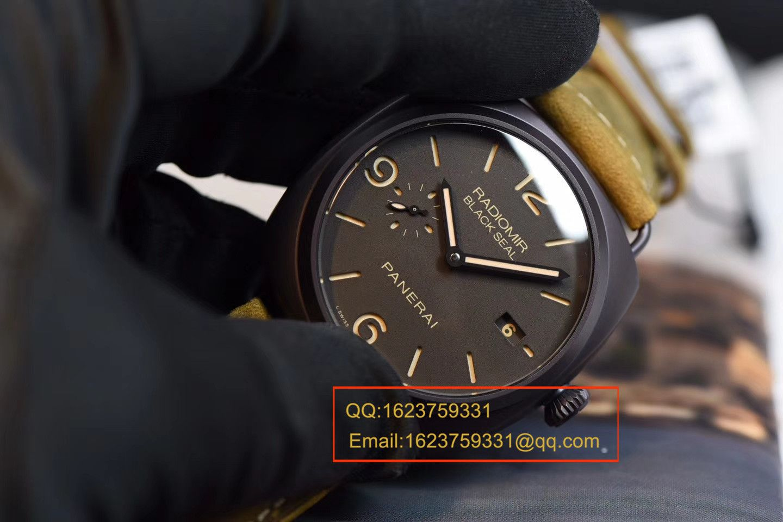 视频评测Panerai沛纳海RADIOMIR系列PAM00505腕表一比一超A高仿手表【VS PAM505  V2版 同步正品机芯功能】