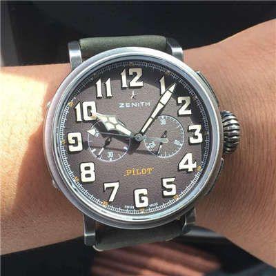 视频评测真力时飞行员系列11.2430.4069/21.C773腕表一比一精仿手表【XF原KW咖啡骑士】
