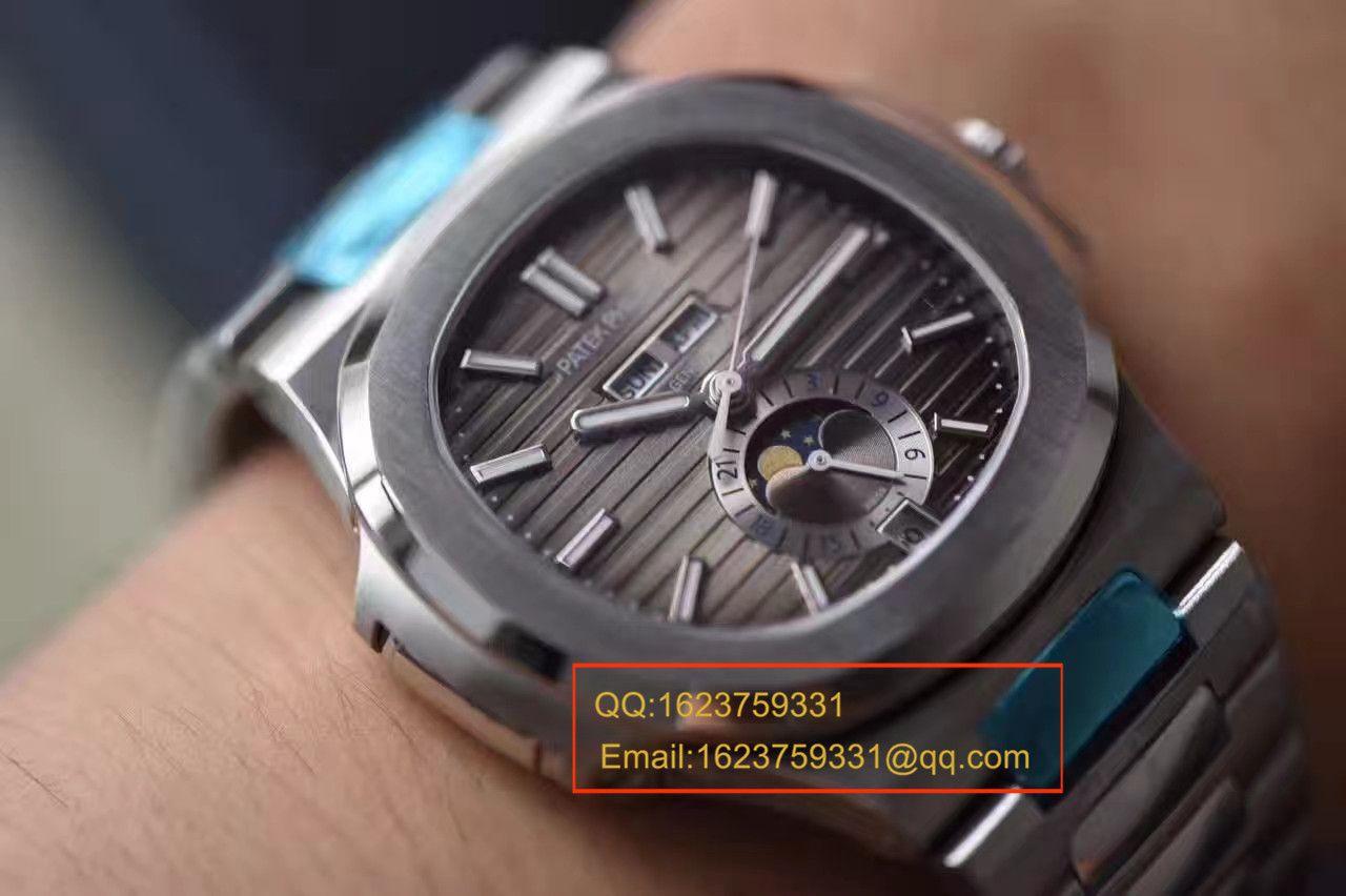 视频评测百达翡丽Nautilus运动系列5726/1A-001腕表【KM一比一超A高仿鹦鹉螺V2版本】 / BD200MM