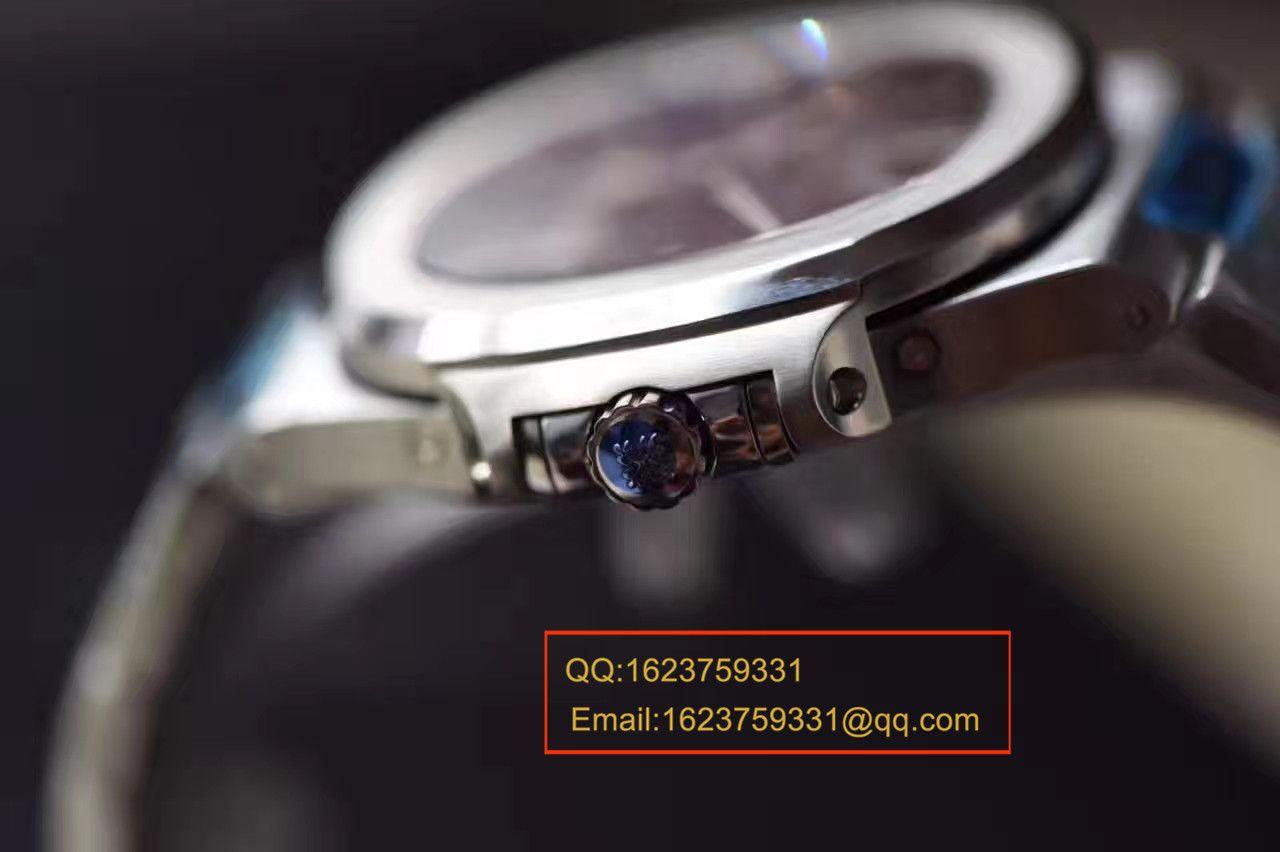 视频评测百达翡丽Nautilus运动系列5726/1A-001腕表【KM一比一超A高仿鹦鹉螺V2版本】