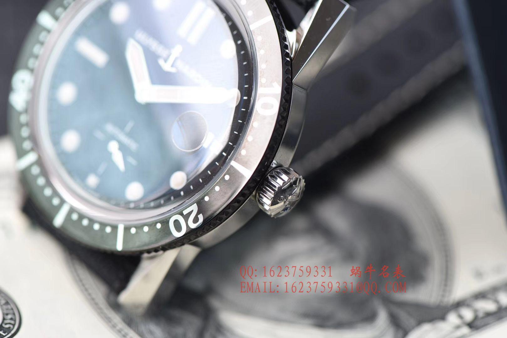 视频评测一比一超A高仿雅典表Ulysse Nardin Diver潜水表系列Le Locle 勒洛克潜水腕表3203-950