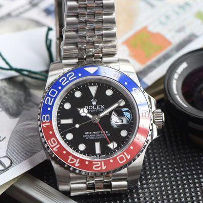 【视频评测】劳力士格林尼治型II系列126710BLRO-0001腕表一比一超A高仿【DJ超級格林尼治二代126710 可乐圈GMT!真正红蓝陶瓷圈3186机芯】