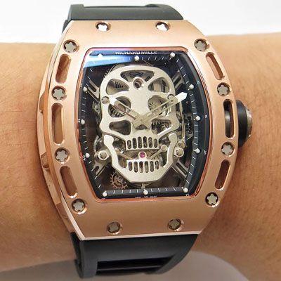 RICHARD MILLE 里查德米尔男士系列RM 52-01腕表【理查德米勒骷髅头陀飞轮】 RM052FD