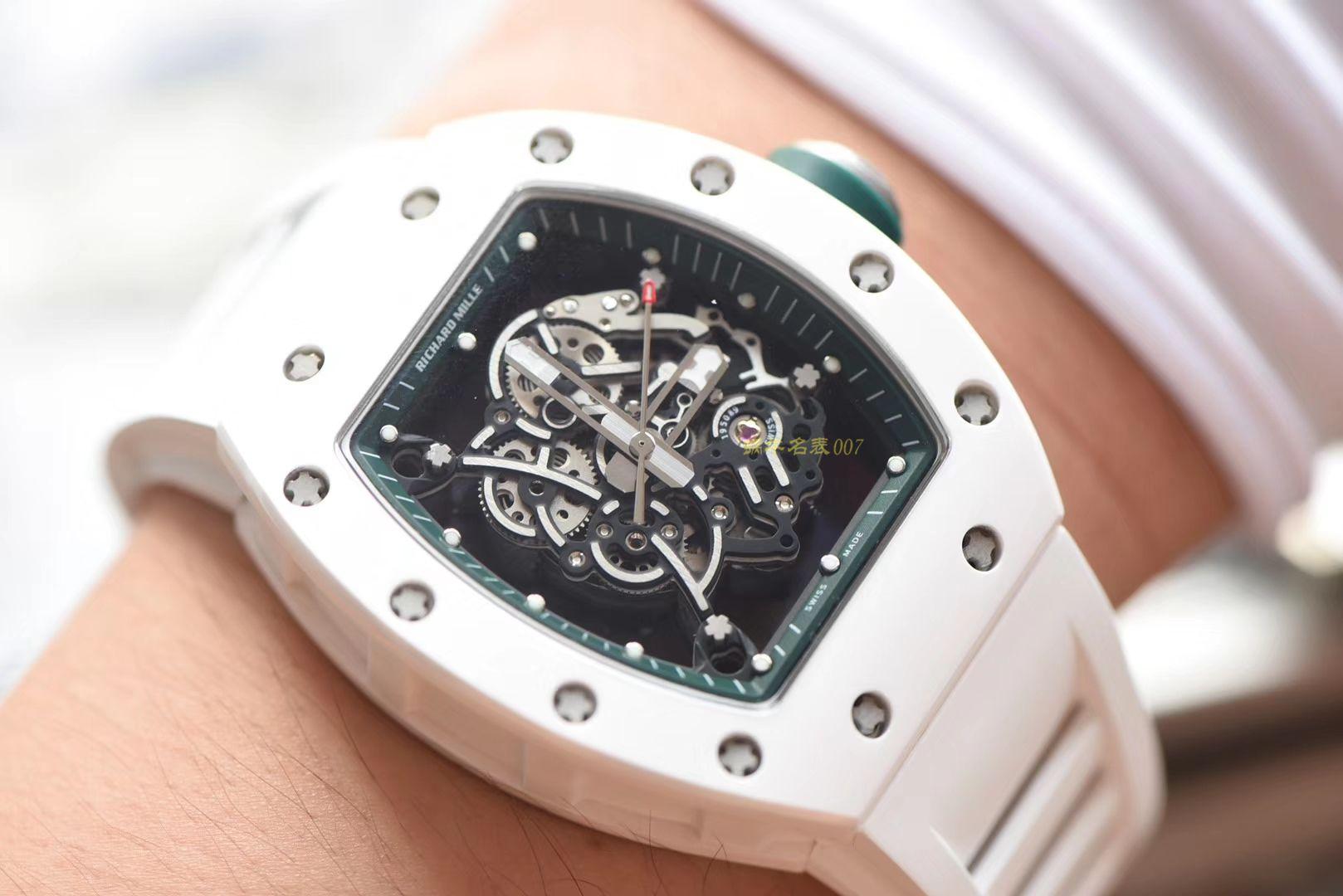 【视频评测】RICHARD MILLE理查德摸了男士系列RM 055腕表【KV一比一超A精仿手表】