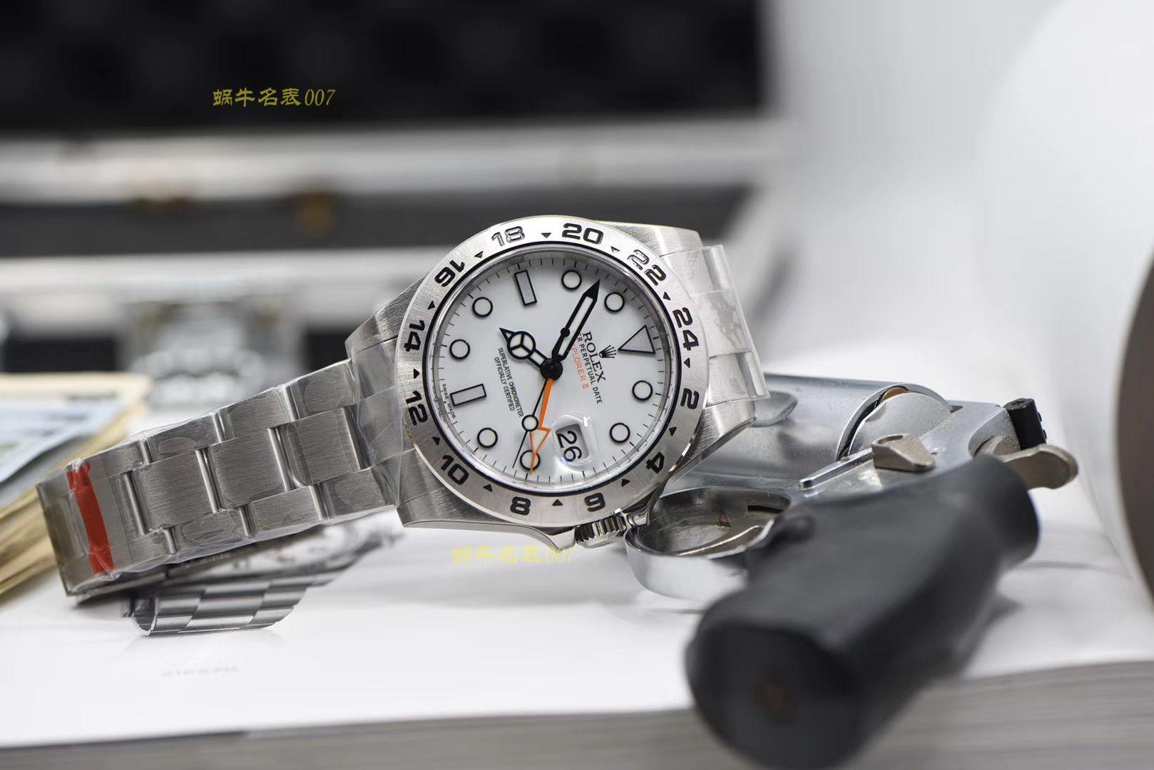 劳力士探险家型系列m216570-0001 白盘腕表一比一超A高仿【N厂探险家二代超级3187自动机械机芯】