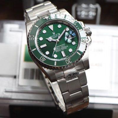 【AR一比一超A高仿劳力士绿水鬼手表】劳力士潜航者型系列116610LV-97200 绿盘腕表