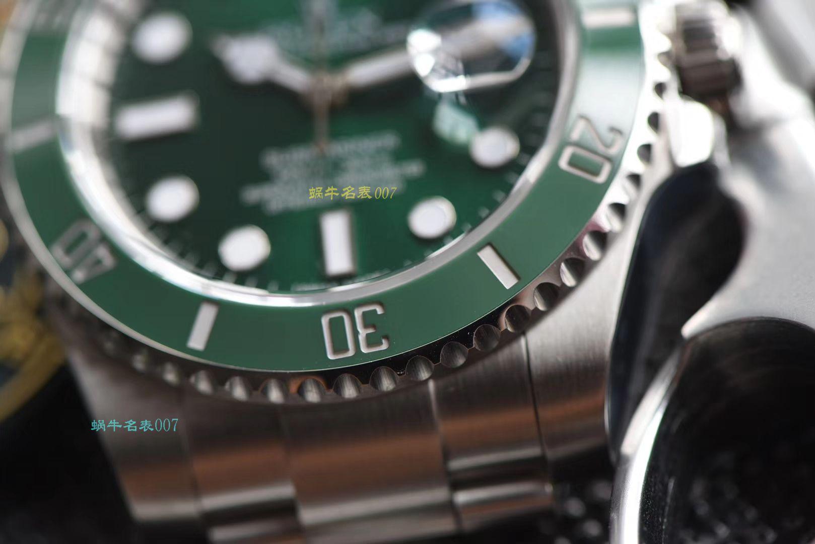 【AR一比一超A高仿劳力士绿水鬼手表】劳力士潜航者型系列116610LV-97200 绿盘腕表 / R318