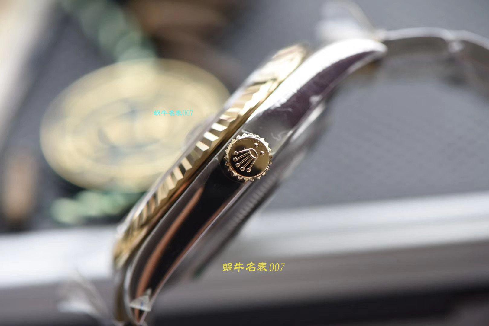 【视频评测AR厂一比一复刻劳力士日志手表】复刻的手表劳力士日志型系列116333-72213香槟盘腕表